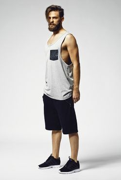 Urban Classics Leather Imitation Pocket Loose Tank TB965