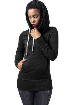 Urban Classics Damen Ladies Long Logopatch Hoody TB1328