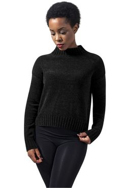 Urban Classics Damen Ladies Chenille Turtleneck Crew TB1351