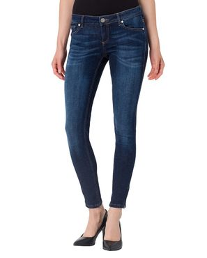 Cross Damen Jeans Giselle 7/8 Super Skinny Ocean Blue Used P477-007