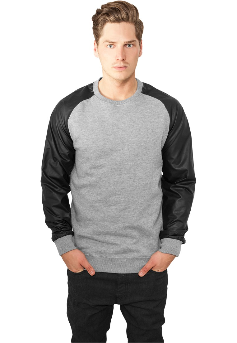 Urban Classics Raglan Leather Imitation Crew TB845