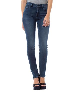 Cross Damen Jeans Anya Slim Fit Deep Blue P489-090