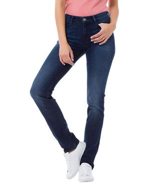 Cross Damen Jeans Anya Slim Fit Dark Mid Blue P489-094