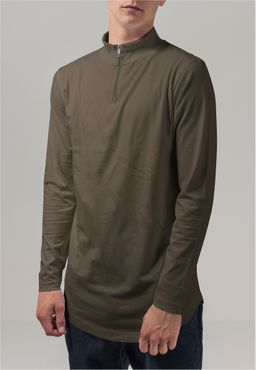 Urban Classics Herren Long Shaped Turtle Zip Longsleeve TB1569