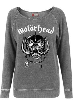 Merchcode Damen Motörhead Logo Burnout Open Edge Crewneck MC002