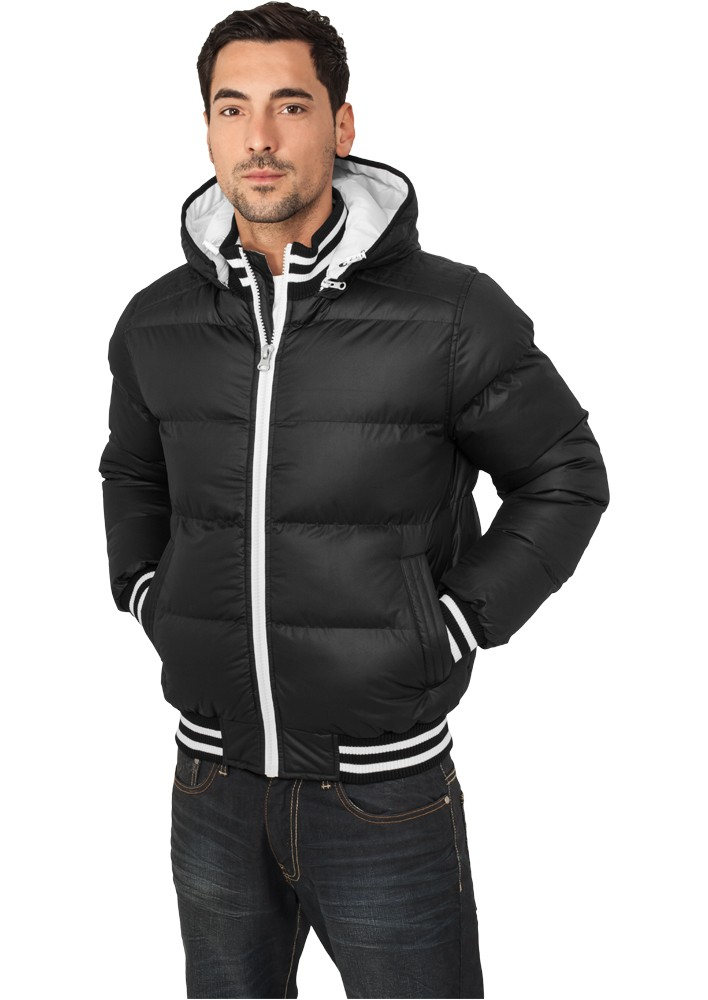 Urban Classics Shiny 2-tone Hooded College Bubble Jacket TB431