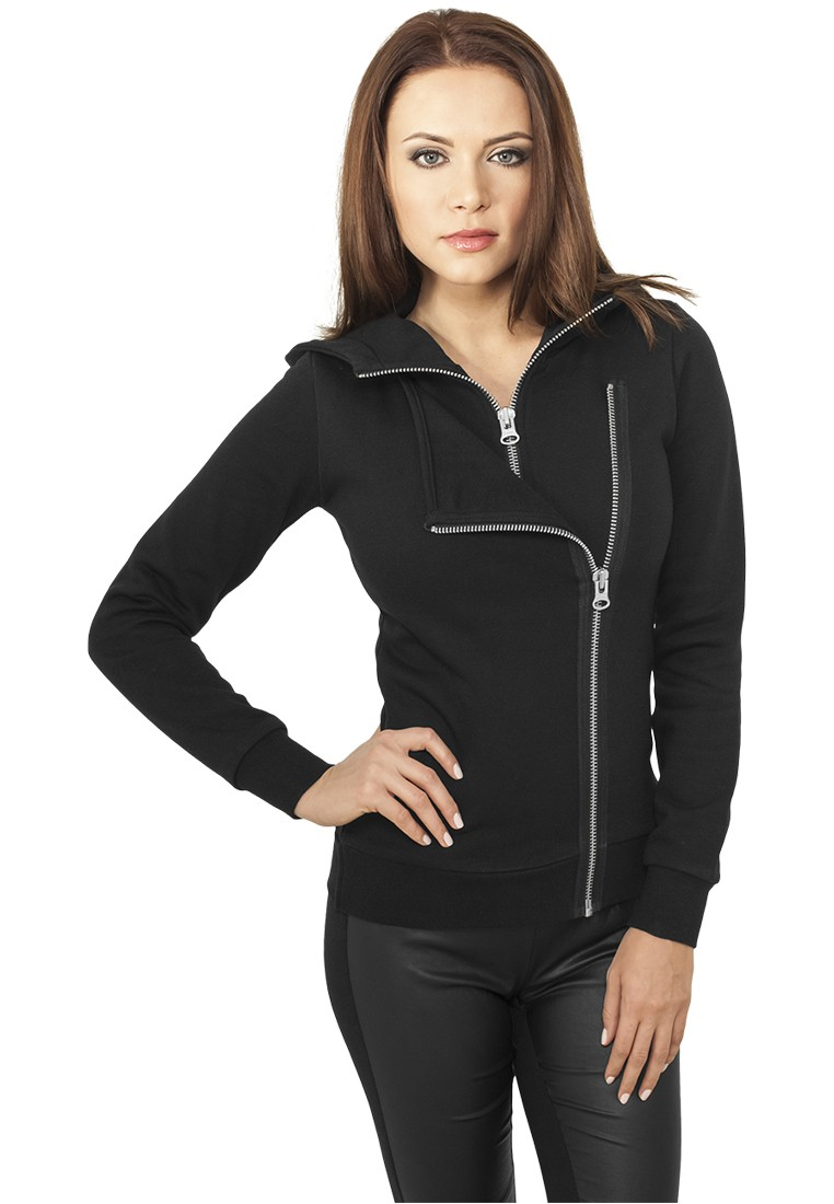 Urban Classics Damen Biker Sweat Jacket TB941