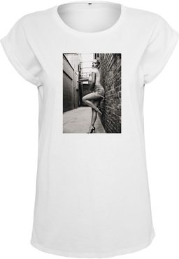 Merchcode Damen Rita Ora White Wall Tee MC028