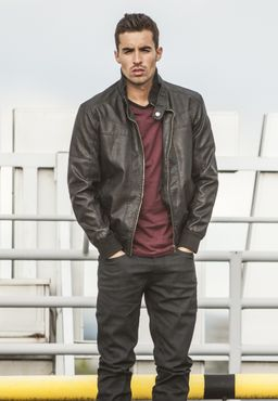 Urban Classics Leather Imitation Jacket TB564