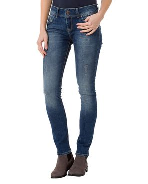 Cross Damen Jeans Melinda Destroyed Skinny Blue Used P415-006