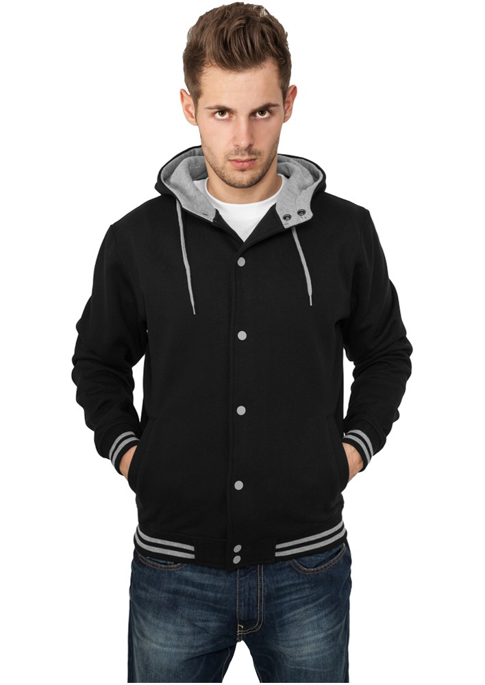 Urban Classics Herren Hooded College Sweatjacket TB288