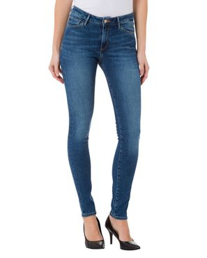 Cross Damen Jeans Alan Skinny Mid Blue N497-039