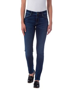 Cross Damen Jeans Anya Slim Fit Dark Blue P489-120