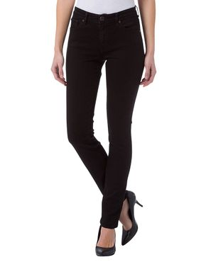 Cross Damen Jeans Anya BCI Baumwolle Slim Fit Black P489-155