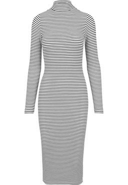 Urban Classics Damen Striped Turtleneck Dress TB1709