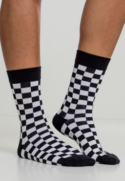 Urban Classics Checker Socks 2-Pack TB2162