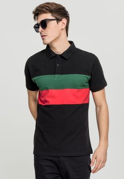Urban Classics Herren Color Block Panel Poloshirt TB2064