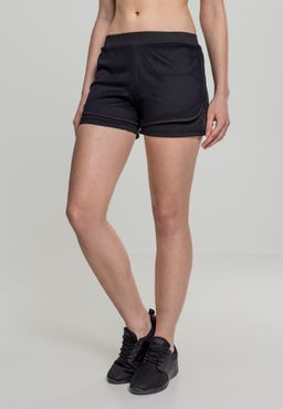 Urban Classics Damen Double Layer Mesh Shorts TB2028