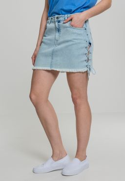 Urban Classics Damen Denim Lace Up Skirt TB2002