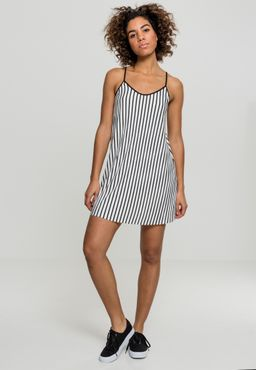 Urban Classics Damen Striped Pleated Slip Dress TB1943