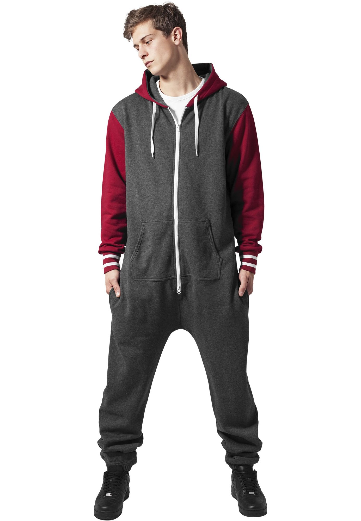 Urban Classics Herren College Sweat Jumpsuit Overall TB629