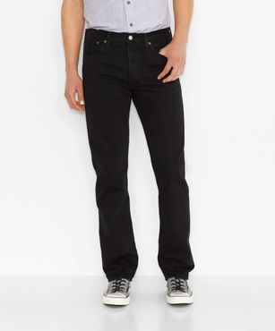 Levis Herren Jeans 501® Levis® Original Fit Black 00501-0165