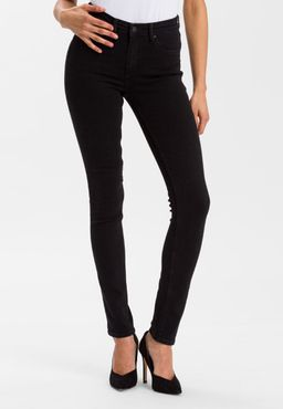 Cross Damen Jeans Natalia Slim Fit Schwarz Black P448-064