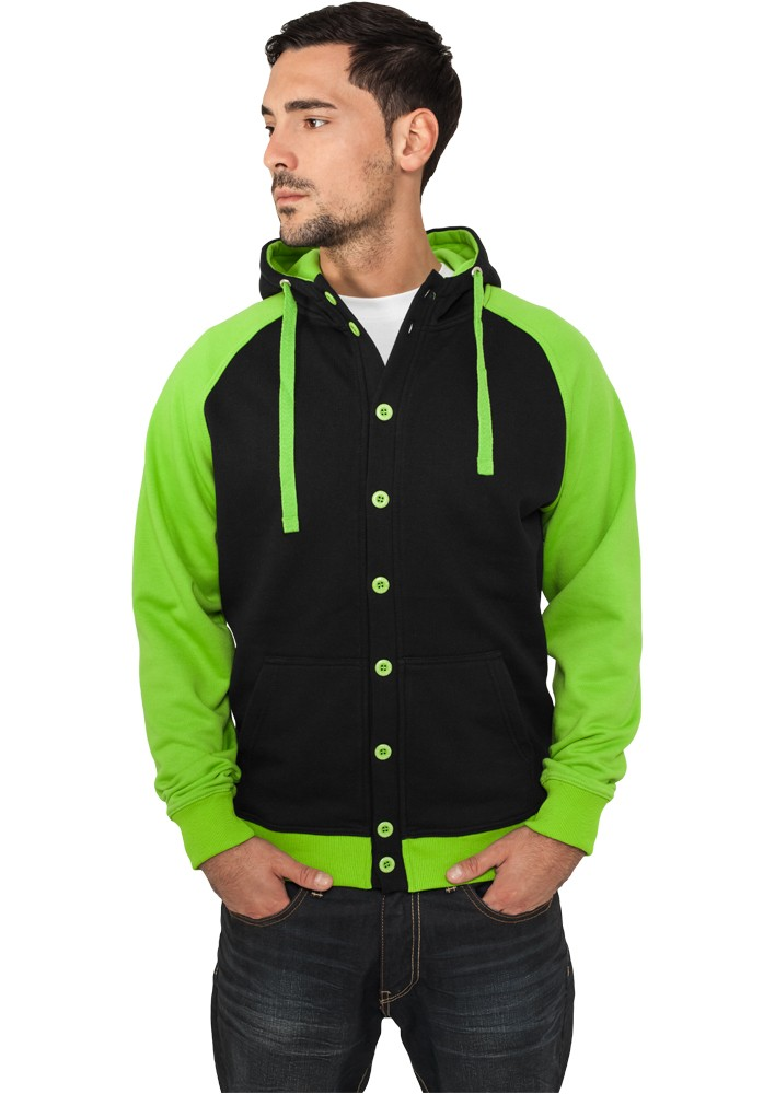 Urban Classics Light Fleece Button Hoody TB256