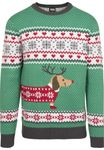 Urban Classics Herren Sausage Dog Christmas Sweater TB2524