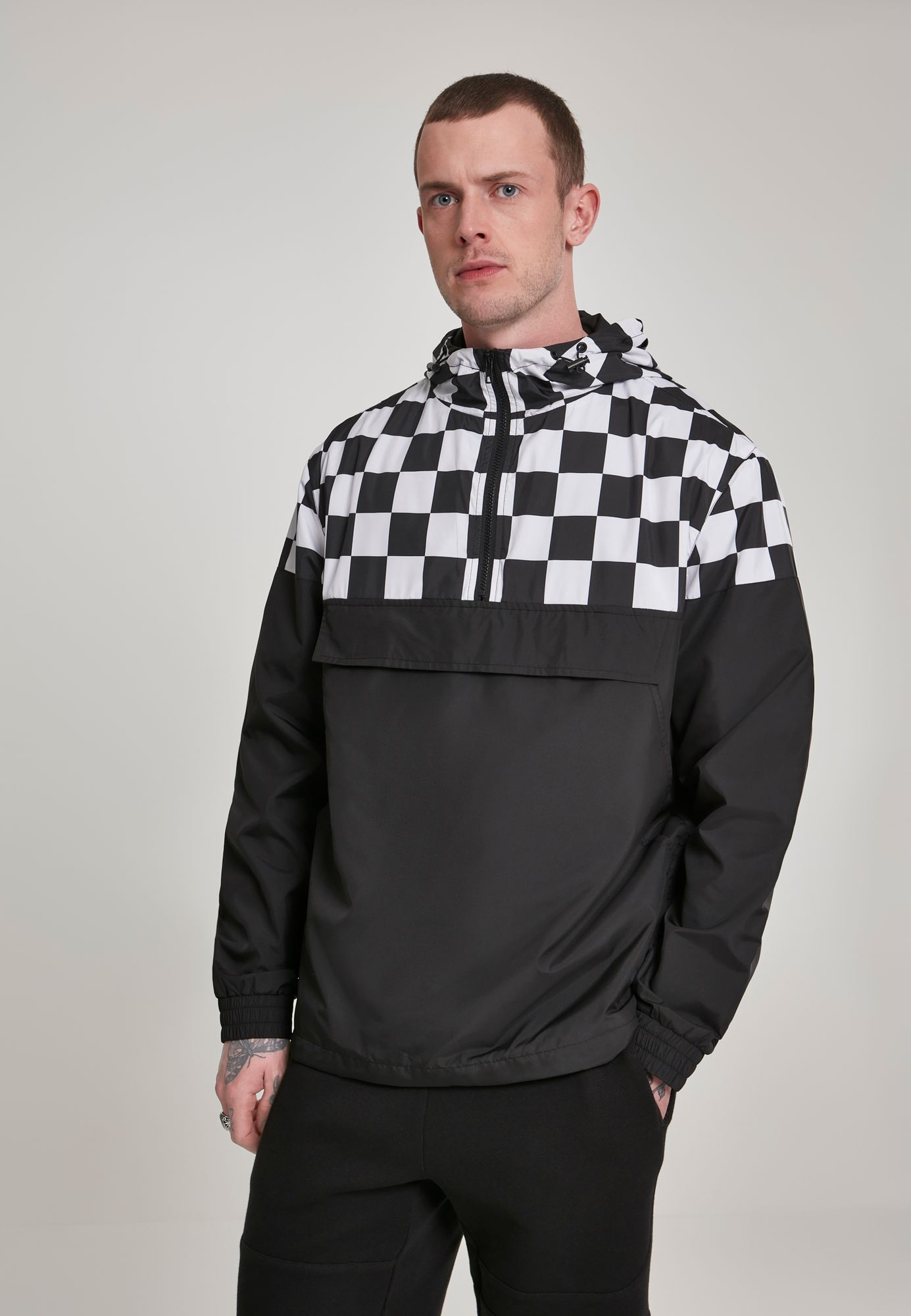 Urban Classics Herren Check Pull Over Jacket TB2749