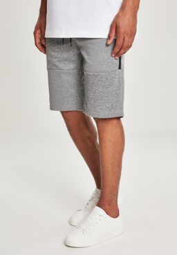 Southpole Herren Zipper Pocket Marled Tech Fleece Shorts