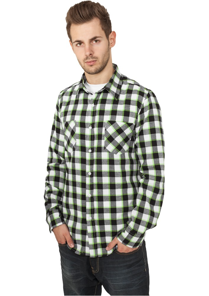 Urban Classics Tricolor Checked Light Flanell Shirt TB411