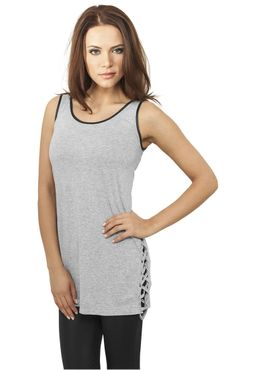 Urban Classics Damen Leather Imitation Side Knotted Tank TB904
