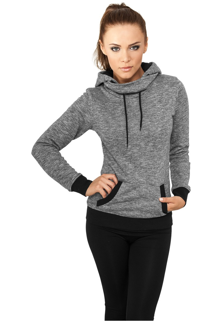 Urban Classics Damen High Neck Hoody TB772