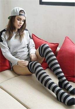 Urban Classics Damen Striped Socks TB1167