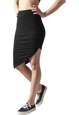 Urban Classics Damen Asymetric Viscose Rock Skirt TB1193