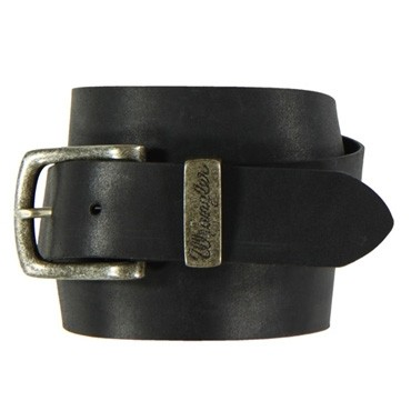 Wrangler Gürtel Basic Metal Loop Belt Black W0080US01