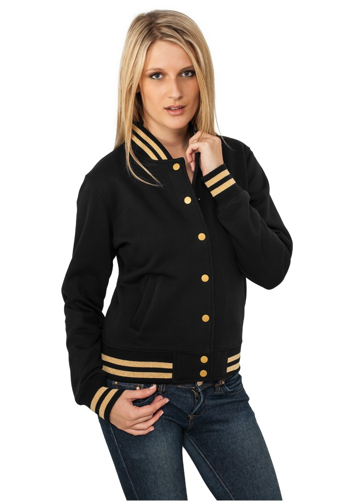 Urban Classics Damen Metallic College Sweatjacket TB357