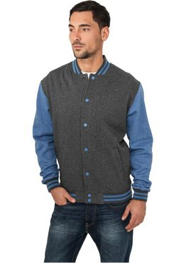 Urban Classics Melange College Sweatjacket TB423