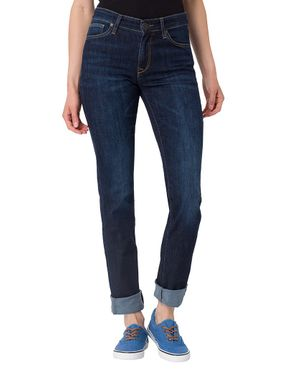 Cross Damen Jeans Anya Dark Blue Used P489-077