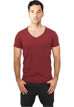 Urban Classics Fitted Peached Open Edge V-Neck Tee TB813
